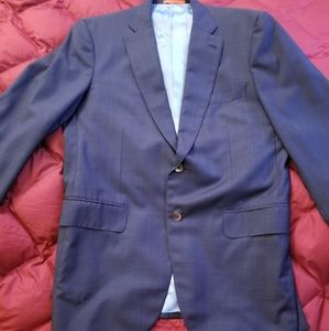New, No Tags, ISAIA Mens Italian Blue Sportscoat,